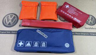 VW Golf MK3 MK4 MK5 MK6 MK7 MK8 ID Scirocco MK3 Volkswagen Safety Kit Warning Triangle Orange Vests First Aid Genuine New OEM VW Votex Parts
