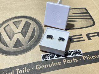 Volkswagen R Cufflinks Mens New Genuine Votex OEM Clothing Gift VW Golf MK2 MK3 MK4 MK5 MK6 MK7 GTI R R32 VR6