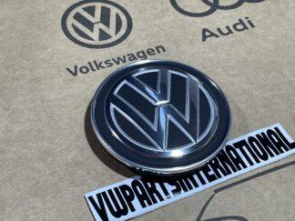 VW Golf MK7 Wheel Centre Cap Satin Black Polished Chrome Reflex Silver Center Cover New Genuine OEM VW Part