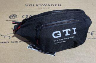Volkswagen GTI Black Bum Bag Fanny Pack Belt Bag New Genuine Zubehör OEM Clothing Accessory Gift VW Golf MK2 MK3 MK4 MK5 MK6 MK7 GTI Polo Lupo