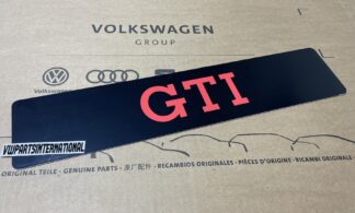 Volkswagen GTI Show License Plate Number Plate Enthusiasts Owners Shows Photos OEM Accessory Gift