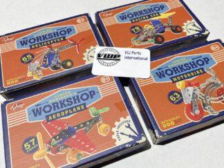 Kids Junior Engineer Workshop choose Aeroplane, Helicopter, Motorbike or Race Car Model Building Kit Toy Gift