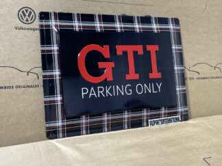 Volkswagen GTI Parking Only Metal Sign Tartan Enthusiasts Owners Car Park Drive OEM Accessory VW Gift
