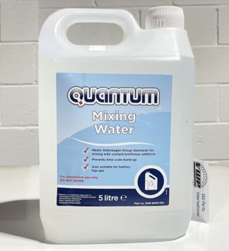 Quantum Mixing Water 5L for Coolant and Battery Top Up for VW Golf Polo Scirocco Jetta Lupo Tiguan Amarok ID Passat Beetle Transporter Audi Seat Skoda