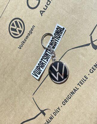 Volkswagen Black Chrome Enamel Keyring New Genuine OEM Zubehör Accessory Gift VW Golf MK2 MK3 MK4 MK5 MK6 MK7 MK8 Polo Lupo Corrado Amarok Transporter