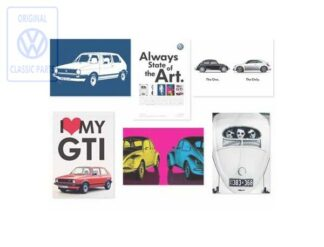 Genuine VW Postcards Collection Post Cards Set Classic Car Models Gifts 211087703A