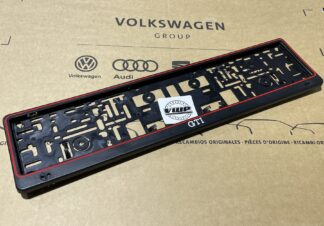 Volkswagen GTI Show Number License Plate Holder Surround Enthusiasts Owners Shows Photos OEM Accessory VW Gift