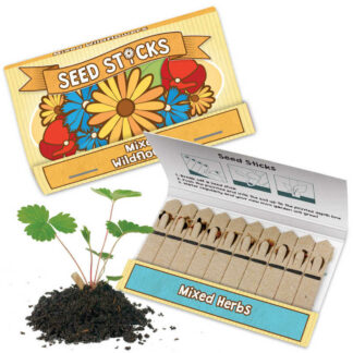Seedsticks Grow Your Own Magical Miniature Garden Mixed Wildflowers or Mixed Herbs Kids Childs Gift
