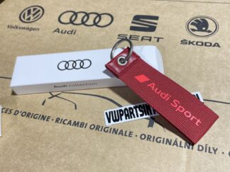 Audi RS3 RS4 RS5 RS6 TT R8 Sport Keyring Red Key Fob Genuine New OEM Accessory Gift