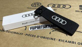 Audi RS3 RS4 RS5 RS6 TT R8 Audi Sport Keyring Black Key Fob Genuine New OEM Accessory Gift