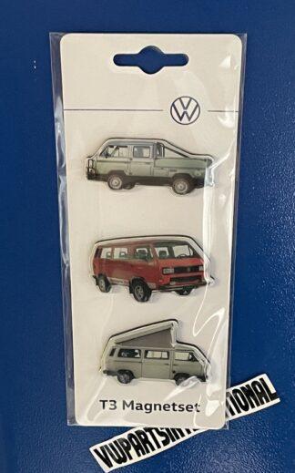 Volkswagen Camper Van T3 Magnet Set Fridge Magnets Transporter Genuine OEM Accessories Gift